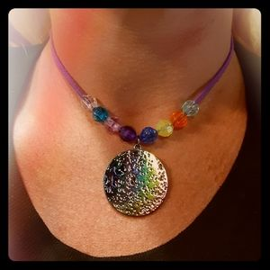 Jewelry - Holographic moon necklace